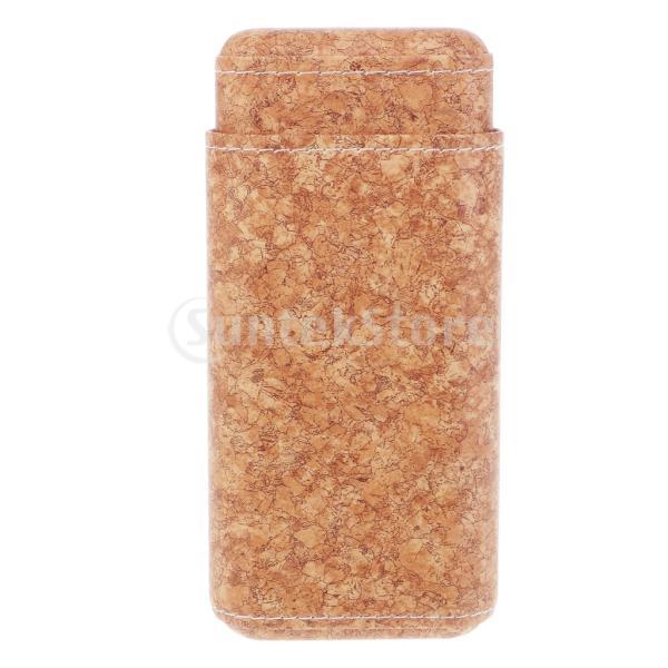 トラベル シガーケース ボックス 木製 葉巻 ヒュミドール ビジネス レザー製 全3スタイル - #2