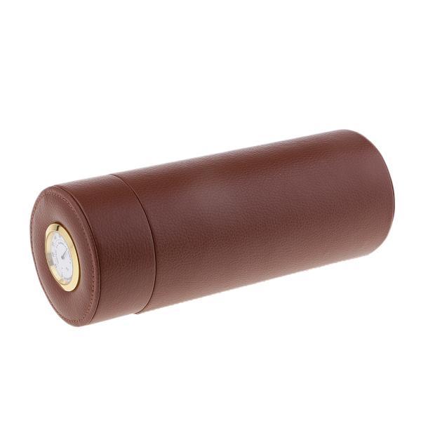 ヒュミドール 湿度計付き 筒型 旅行 ポータブル 葉巻用品 トラベルケース 収納チューブ 持ち運び便利 高品質
