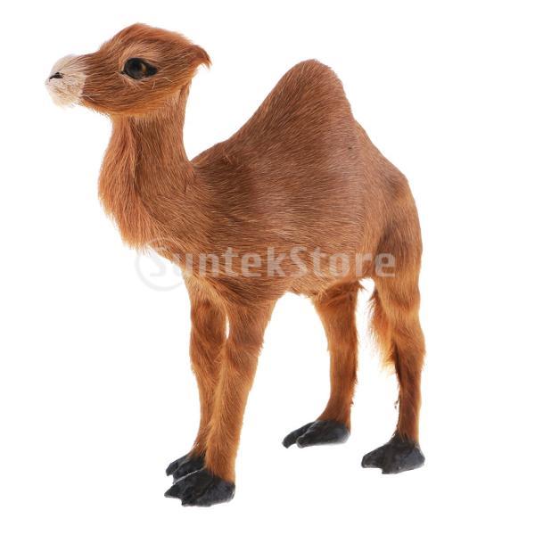 F Fityle ラクダ模型 動物モデル クリスマスパーティー 家の装飾 stk-shop