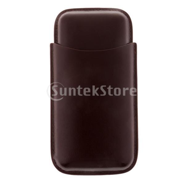 トラベル シガーケース PUレザー ヒュミドール 収納ボックス 高級 3グリッド 喫煙具 ポータブル
