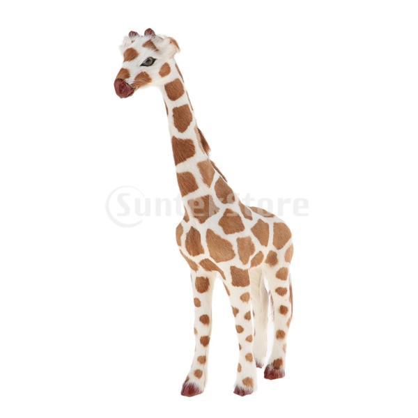 キリンプラスチック製置き物室内ミニ動物モデル教育玩具写真小物アート工芸品装飾品