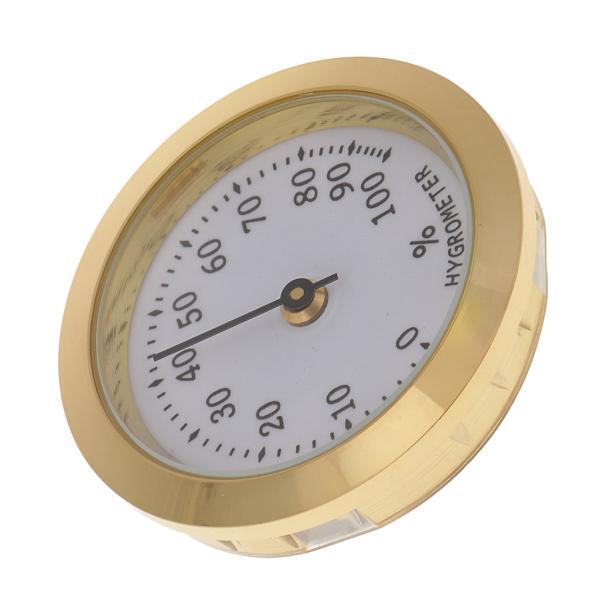 プロフェッショナルシガー湿度計シガーヒュミドール加湿器湿度計ゴールデン