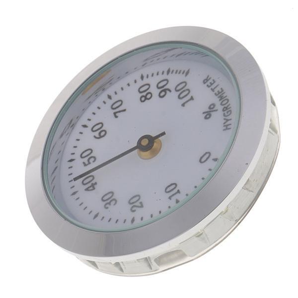 プロフェッショナルシガー湿度計シガーヒュミドール加湿器湿度計シルバー