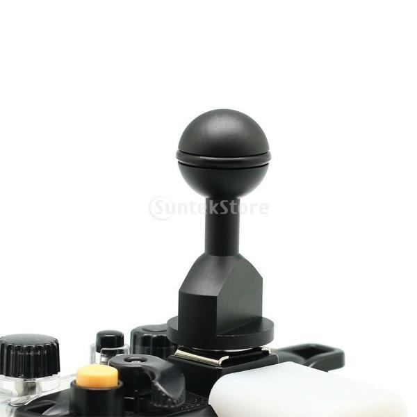 Baoblaze 水中ビデオ/フラッシュ/ストロボライトァメラ用  コールドシューコネクタ用 約1インチ マウントボール