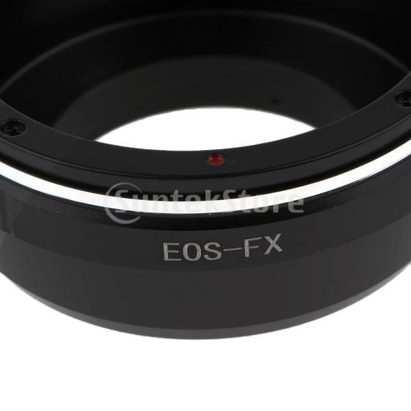 Flameer レンズアダプター キャノンEOS EF EF-Sマウントレンズ → Fujifilm X-Pro1 E1 M1 A1カメラ ブラック