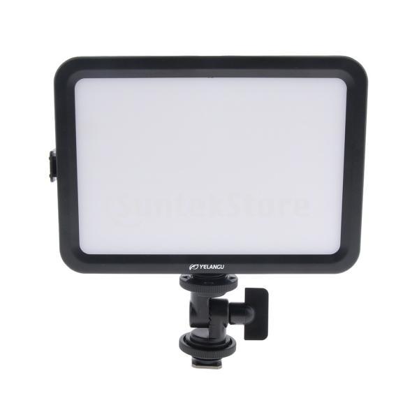 "Fenteer LEDビデオライト 204ビーズ 3300K-5600K 調整可能 二色 標準1/4""ネジ 204ビーズ 撮影ライト"