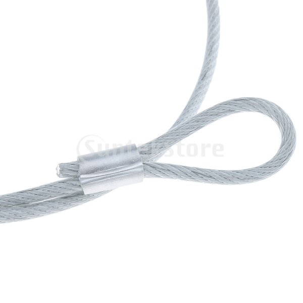 FLAMEER 90cm 安全ロープ ステージライト用 50kg耐荷重 ヘビーデューティロック設計 ステンレス