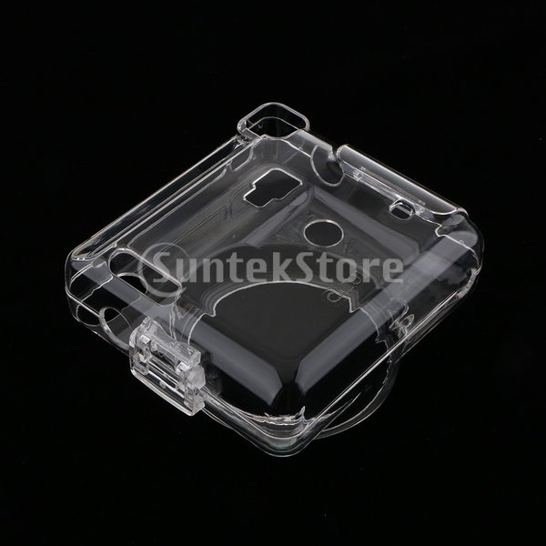 KESOTO カメラケース Fujifilm SQ6インスタントカメラ用 保護カバー クリアクリスタルケース ストラップ付