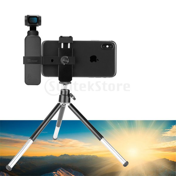 DJI Osmo用ポケットジンバルカメラマウント三脚ブラケット電話ホルダークリップ