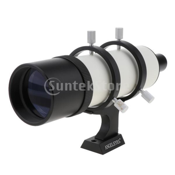 H HILABEE 9倍率 50mm口径 ガイドスコープ+取付ブラケット 天体望遠鏡ファインダースコープ - 黒ブラケット