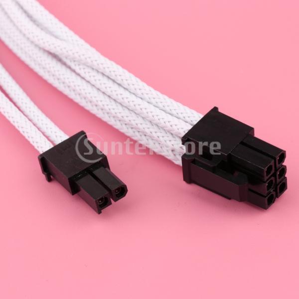 30cm PCIe 8ピン -  8ピン(6 + 2)PCI Express電源延長ケーブル