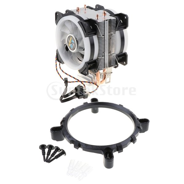 H HILABEE CPUファン 二重ファン LEDライト 2銅ヒートパイプ CPUクーラー 静音 4線式 散熱器 ヒートシンク 冷却ファン|stk-shop|08