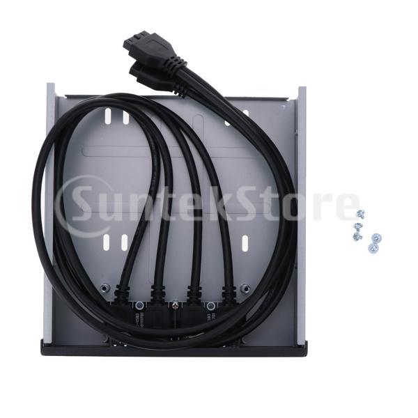 20ピン/19ピン USBフロントパネル 4ポート USB 3.0ハブ コネクタ Type C オーディオ 高速データ転送 耐磨耗|stk-shop