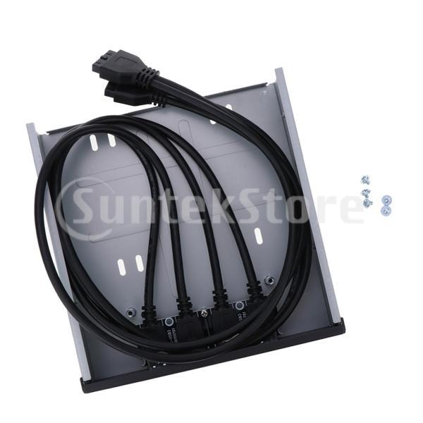 20ピン/19ピン USBフロントパネル 4ポート USB 3.0ハブ コネクタ Type C オーディオ 高速データ転送 耐磨耗|stk-shop|03