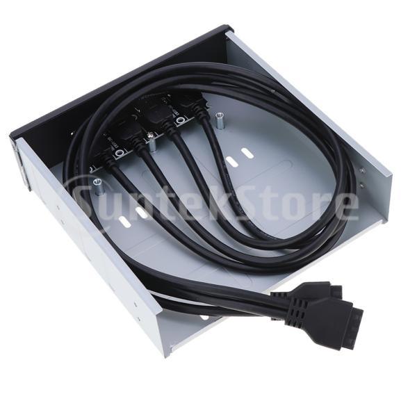 20ピン/19ピン USBフロントパネル 4ポート USB 3.0ハブ コネクタ Type C オーディオ 高速データ転送 耐磨耗|stk-shop|06