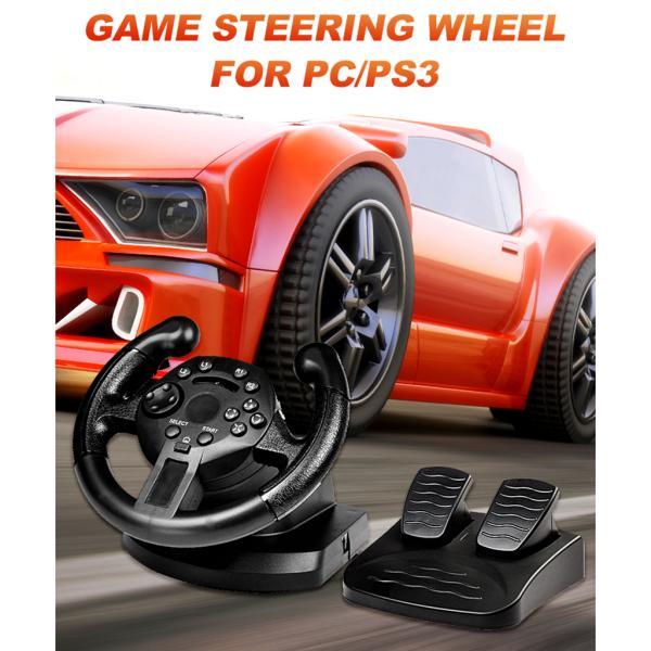 レーシングホイール.ステアリングホイールとペダル.pcゲームホイール.PS3/pc