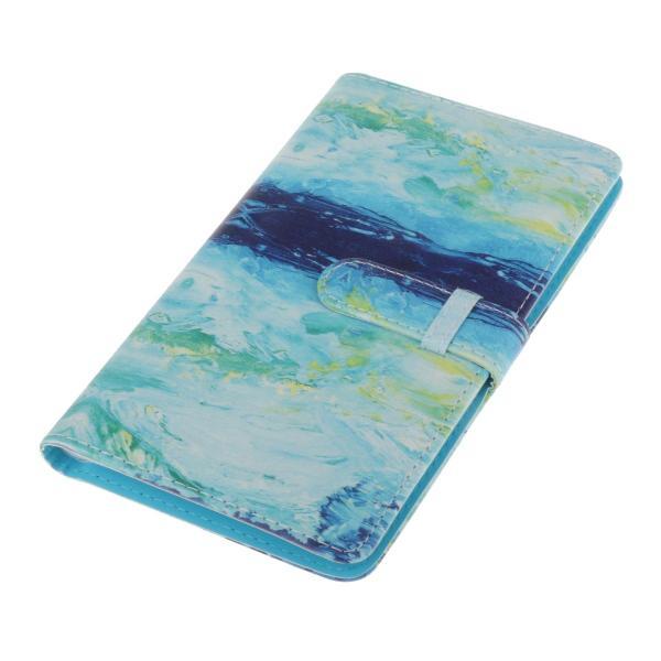 カードブック用大容量96ポケットフォトアルバム3インチフィルムスクラップブックブルー