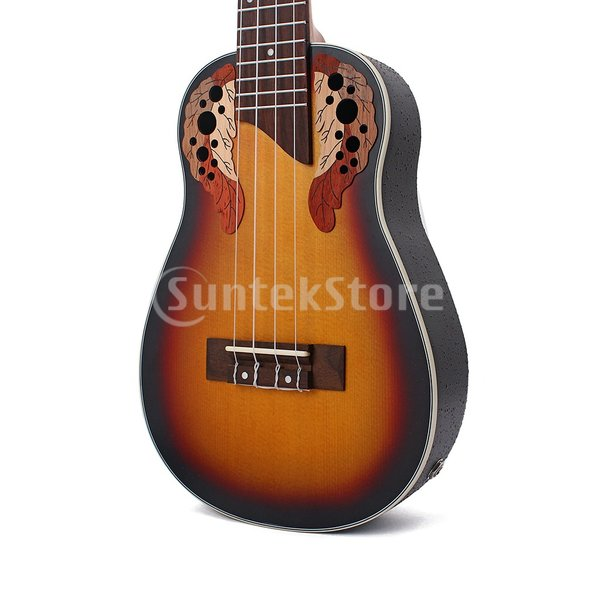 1セットスプルース23インチコンサートウクレレハワイギター収納バッグストラップ6.35mmプラグケーブル|stk-shop|03