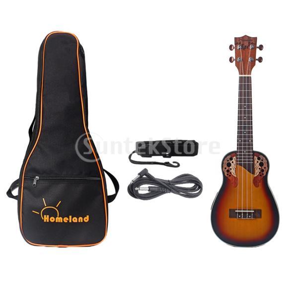 1セットスプルース23インチコンサートウクレレハワイギター収納バッグストラップ6.35mmプラグケーブル|stk-shop|04