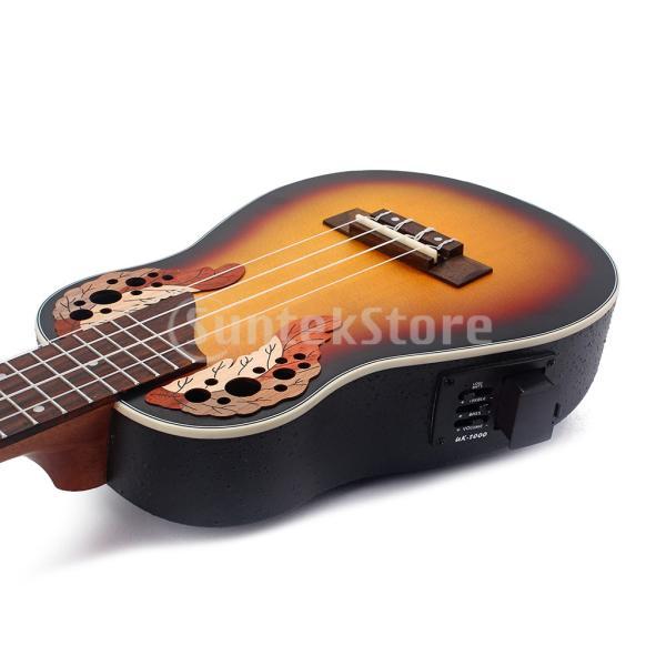 1セットスプルース23インチコンサートウクレレハワイギター収納バッグストラップ6.35mmプラグケーブル|stk-shop|05