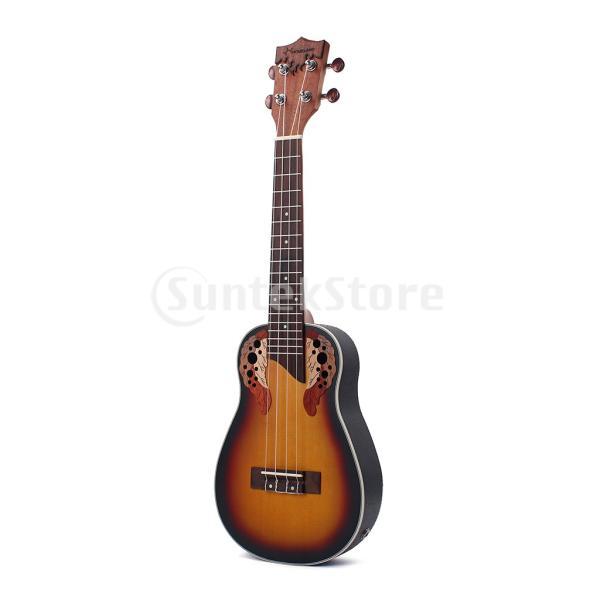 1セットスプルース23インチコンサートウクレレハワイギター収納バッグストラップ6.35mmプラグケーブル|stk-shop|06