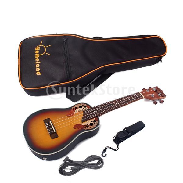 1セットスプルース23インチコンサートウクレレハワイギター収納バッグストラップ6.35mmプラグケーブル|stk-shop|08