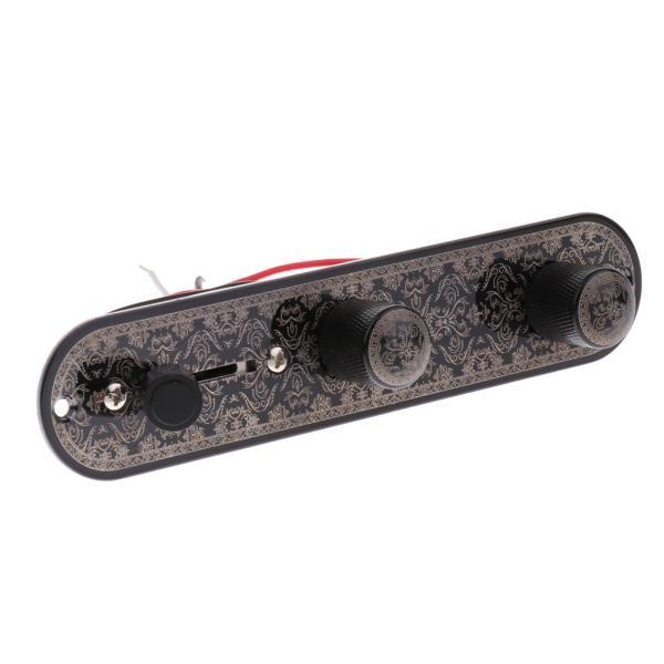 テレキャスターギター用ギター配線済みコントロールプレート3ウェイトグルスイッチ