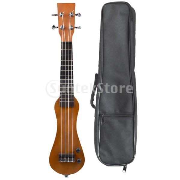 B Blesiya ウクレレ 電動 ハワイギター 21インチ ローズウッド製 ウクレレケース付き|stk-shop