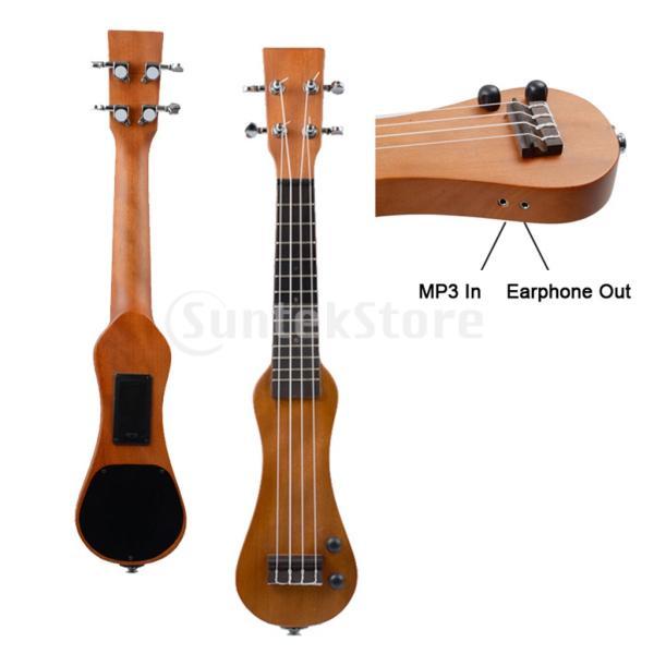 B Blesiya ウクレレ 電動 ハワイギター 21インチ ローズウッド製 ウクレレケース付き|stk-shop|04