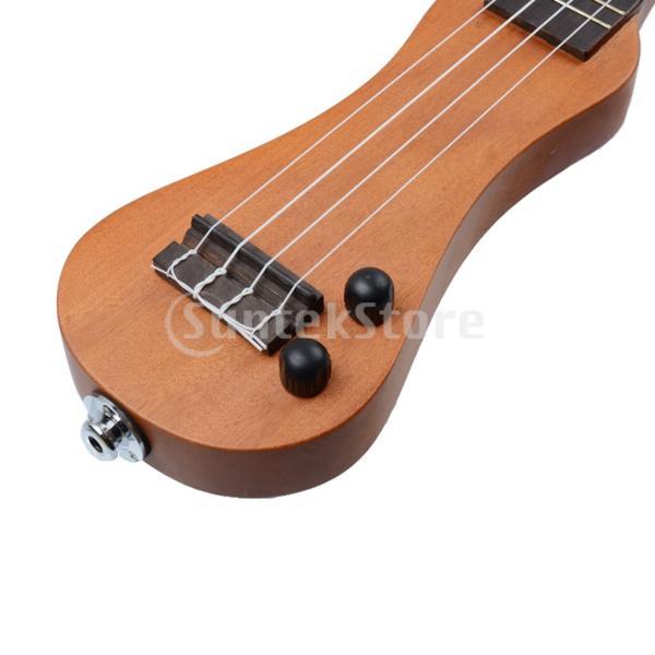 B Blesiya ウクレレ 電動 ハワイギター 21インチ ローズウッド製 ウクレレケース付き|stk-shop|05