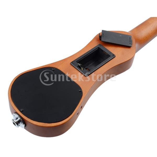 B Blesiya ウクレレ 電動 ハワイギター 21インチ ローズウッド製 ウクレレケース付き|stk-shop|08