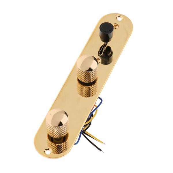 テレキャスターエレキギターパーツ用ワイヤードロードコントロールプレートワイヤリングハーネス.ゴールデン