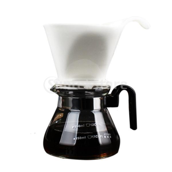 ガラスコーヒーポット フィルター付き コーヒーメーカー 紅茶 ティー 400ml