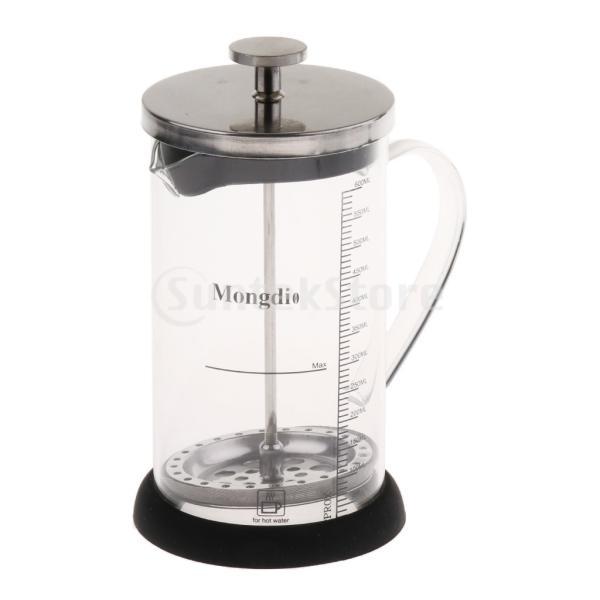 Fenteer フレンチプレスコーヒーメーカー ステンレスフィルター フレンチプレス 600ml コーヒー/お茶 多用途 健康的 耐熱性|stk-shop|02
