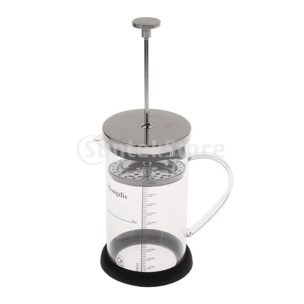Fenteer フレンチプレスコーヒーメーカー ステンレスフィルター フレンチプレス 600ml コーヒー/お茶 多用途 健康的 耐熱性|stk-shop|04