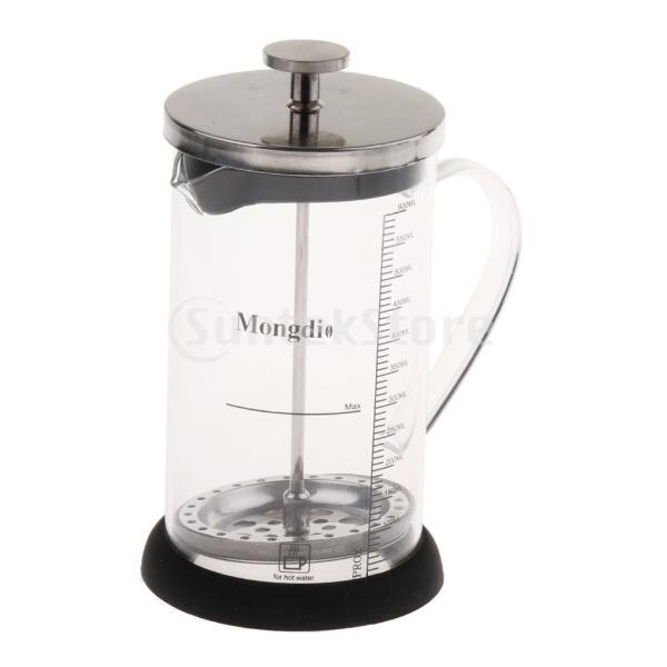 Fenteer フレンチプレスコーヒーメーカー ステンレスフィルター フレンチプレス 600ml コーヒー/お茶 多用途 健康的 耐熱性|stk-shop|06