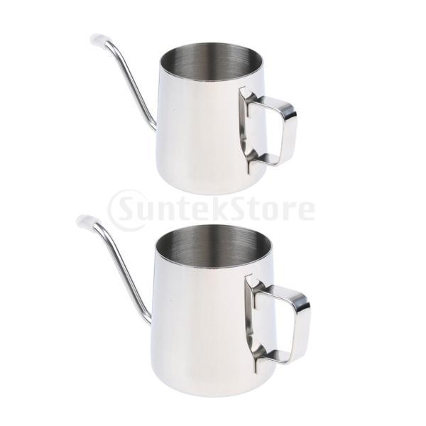 送料無料 Fityle コーヒードリップポット  コーヒーケトル 多用途 便利 実用的  350ml|stk-shop|02