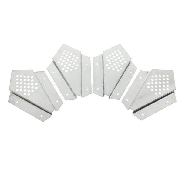 養蜂用具 逃去防止器 蜂箱用 分封捕獲器 取り外し 実用的 ステンレス製 シルバー 4個入り