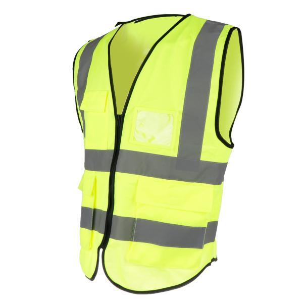 安全ベスト反射ジャケットベストジャストXXL蛍光黄色