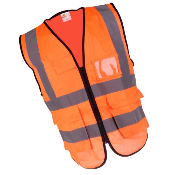 安全ベスト反射ジャケットベストウエストコートベストXXLオレンジ