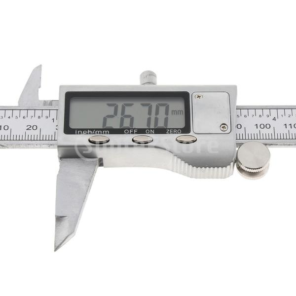 0-150mmステンレス鋼硬化デジタルノギス定規mm /インチ|stk-shop|03