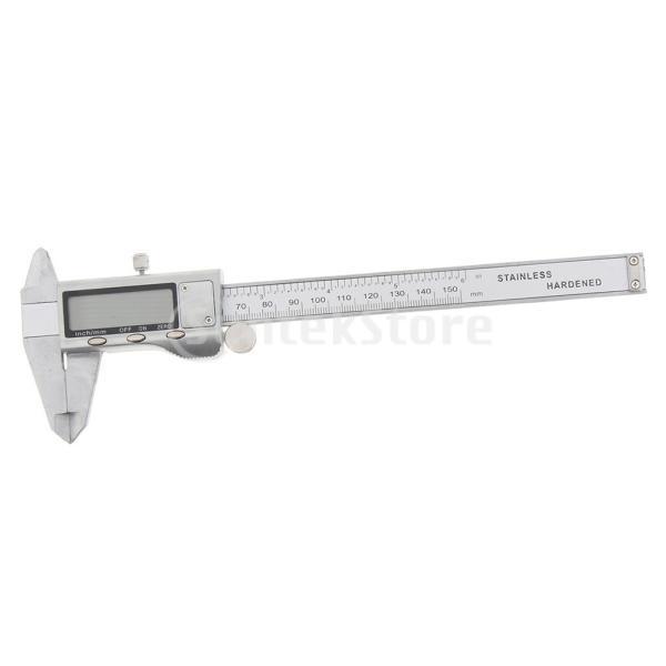 0-150mmステンレス鋼硬化デジタルノギス定規mm /インチ|stk-shop|07