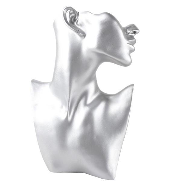 樹脂素材ショーケースジュエリーディスプレイペンダントホルダーL +シルバー樹脂