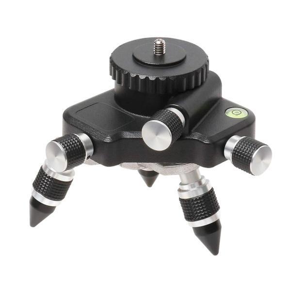 """1/4 """"インターフェイスレーザーレベル用の調整可能な回転金属三脚ブラケットベース"""