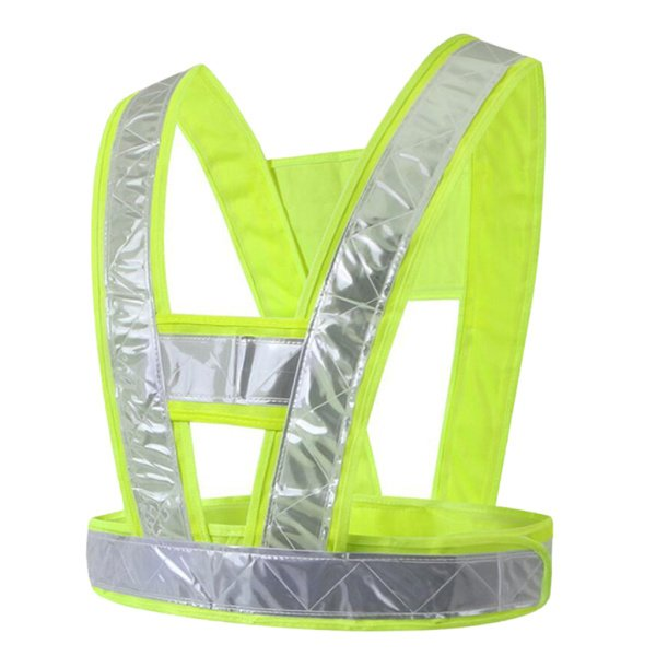 反射ベスト高視認性構造安全ベスト安全服蛍光黄色(格子反射ストリップ)