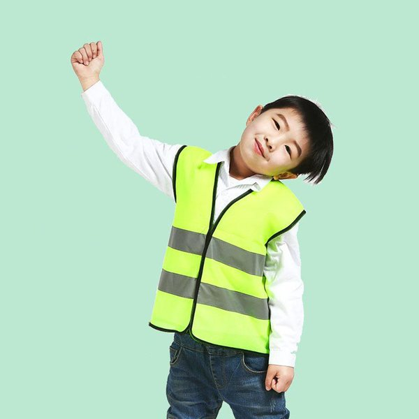 安全高可視性フロントとバック子供安全ベスト反射ストリップ.基準子供シンプルなベスト