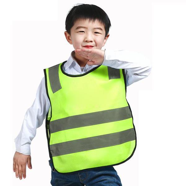 イエロー 子供の交通安全ベスト キッズリフレクティブベスト交通安全ノースリーブ