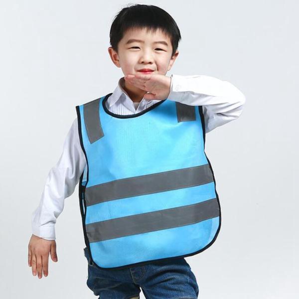 ブルー 子供の交通安全ベスト キッズリフレクティブベスト交通安全ノースリーブ