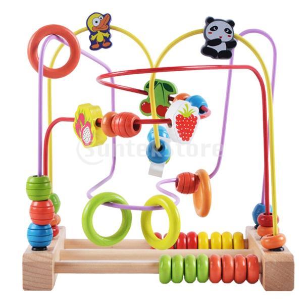 F Fityle ルーピング おもちゃ 教育玩具 赤ちゃん 色や形 ビーズ迷路おもちゃ ビーズコースター