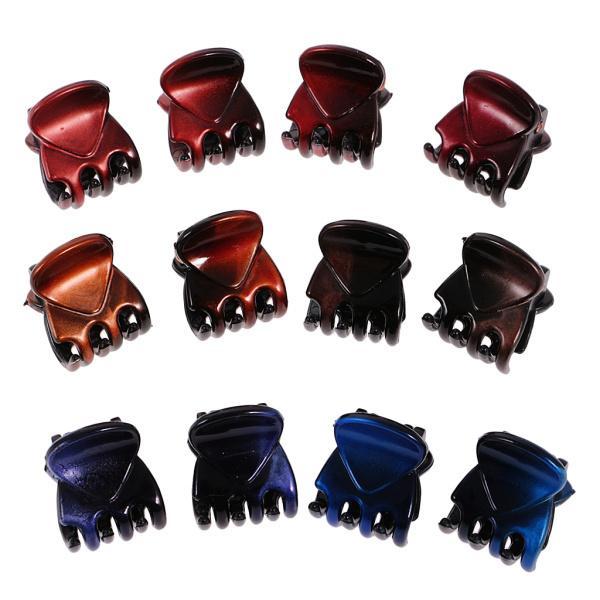 12個/ロットレディーガールミニヘアレジンクローズクランプクリップヘアグリップ|stk-shop